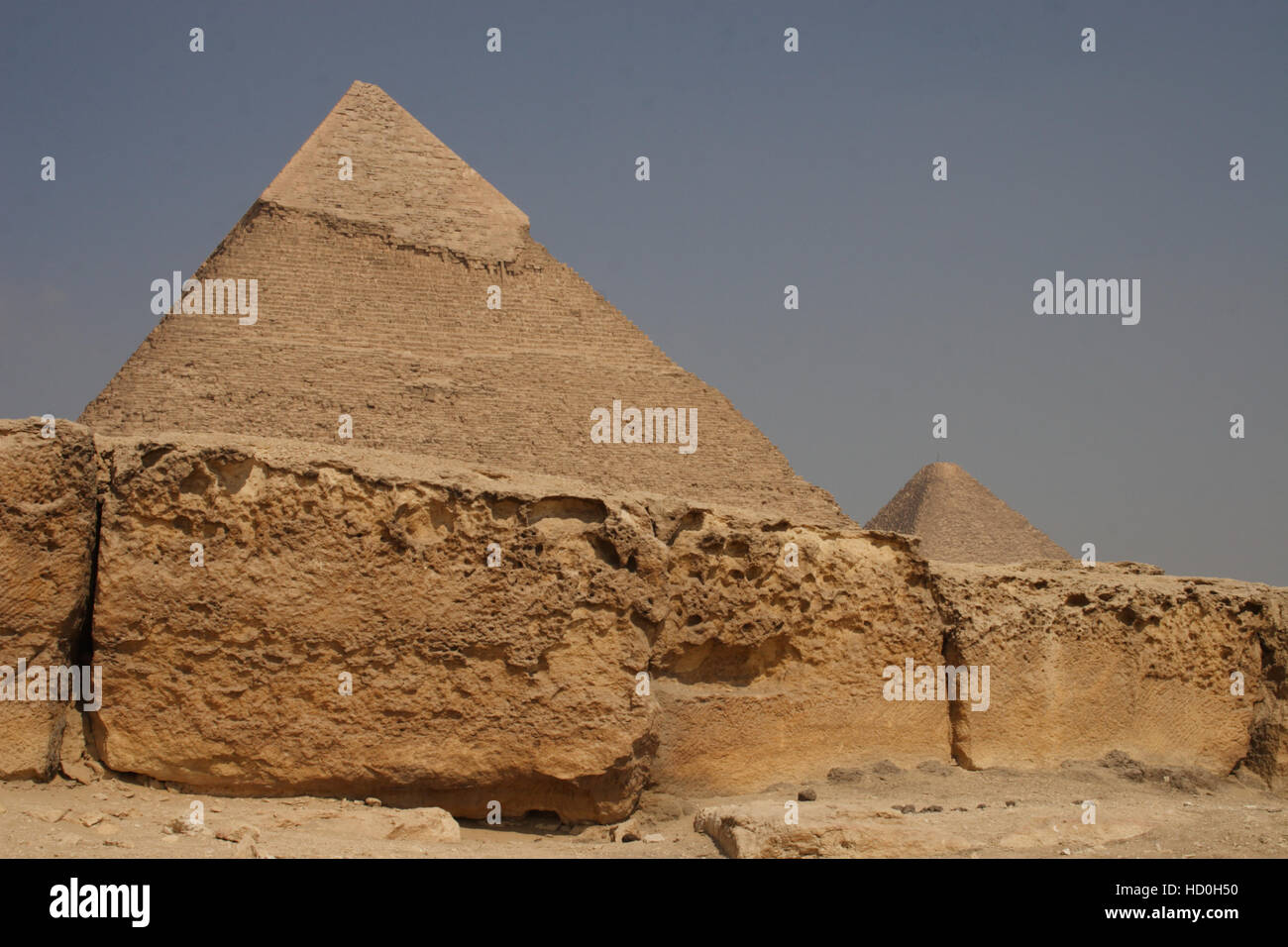 Pyramid area, Giza, Egypt - Stock Image