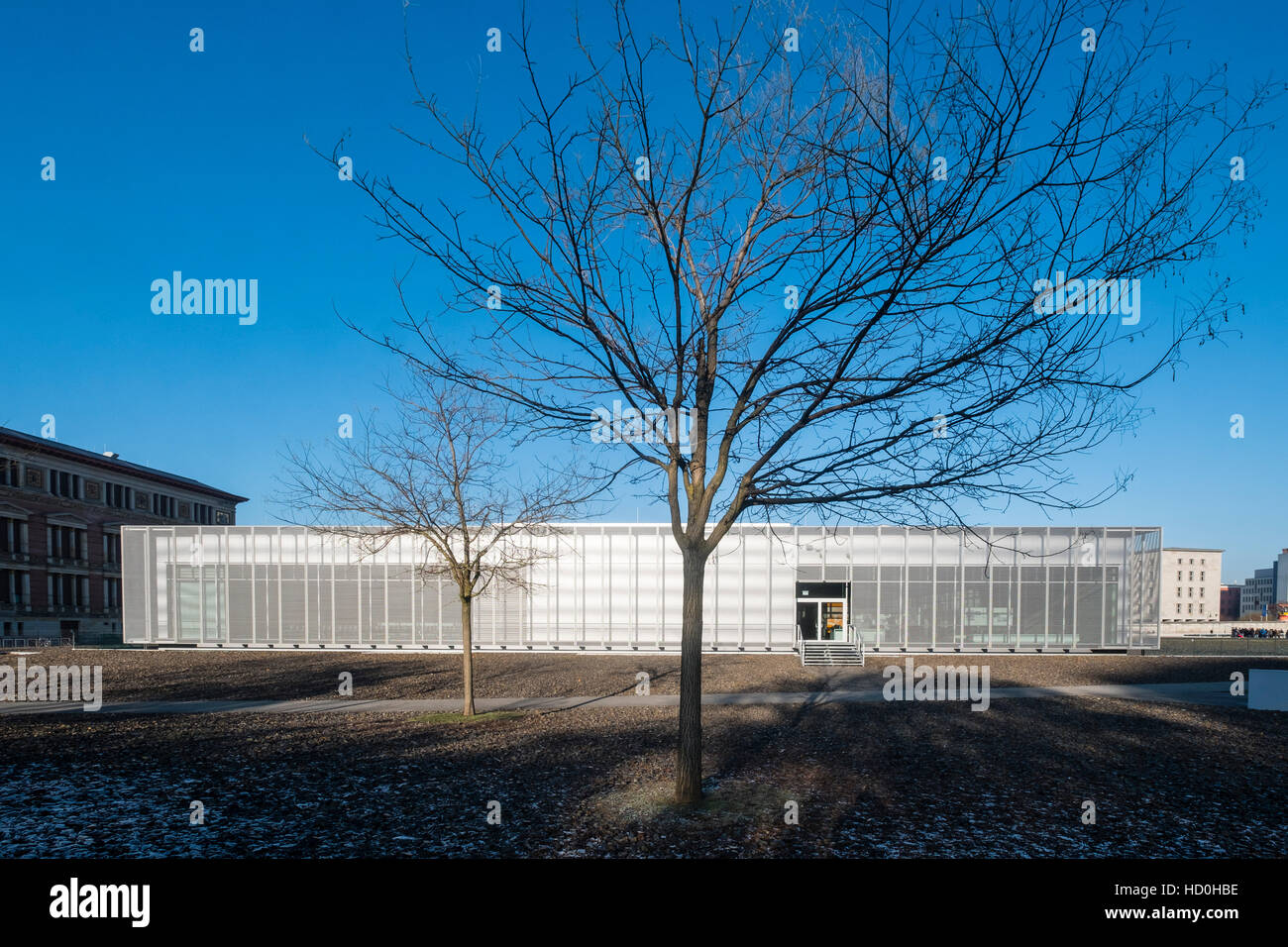 Exterior view of Topography of Terror Museum , former location of Gestapo headquarters , in Berlin, Germany - Stock Image