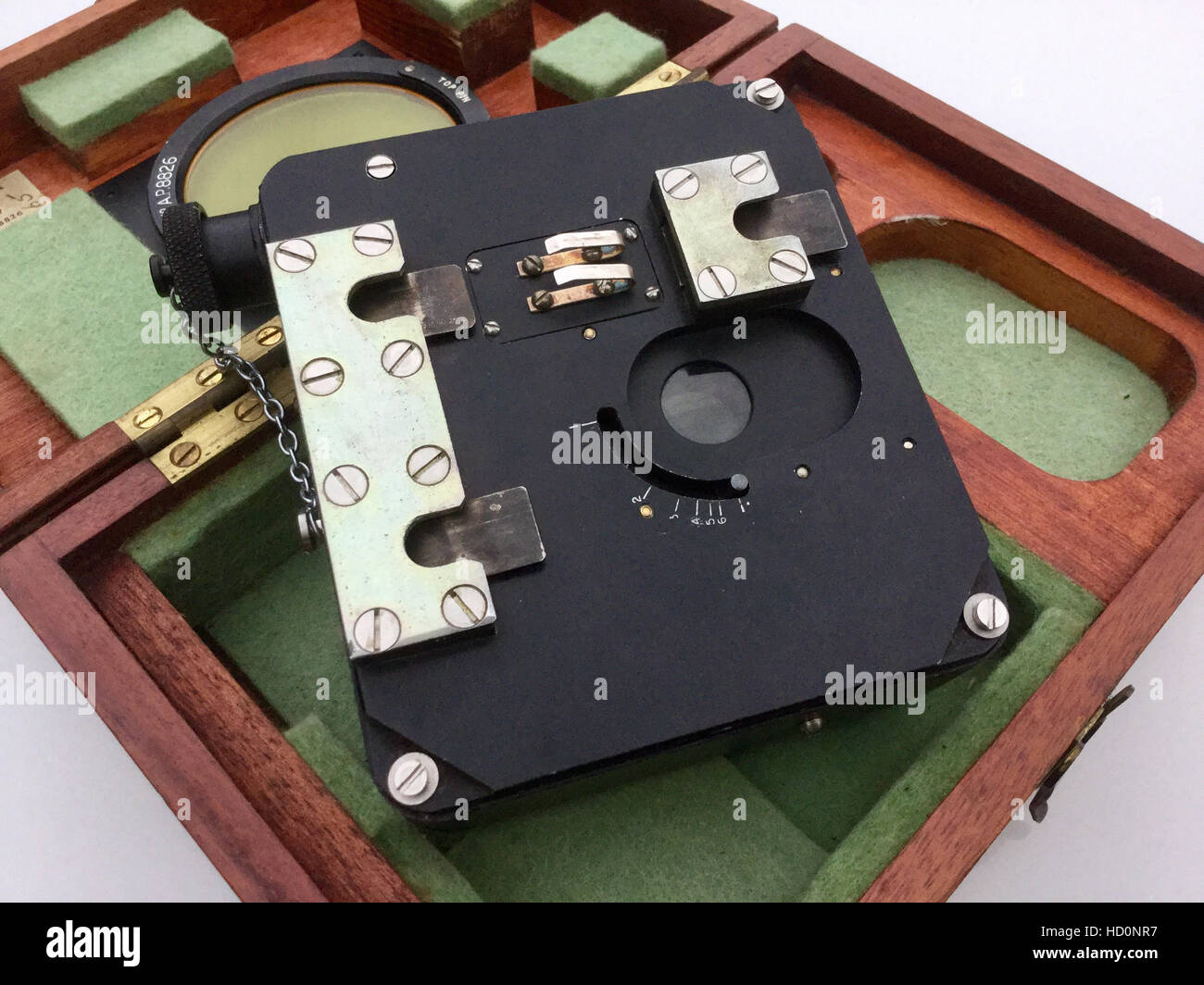 occluded eye gunsight camera - Stock Image