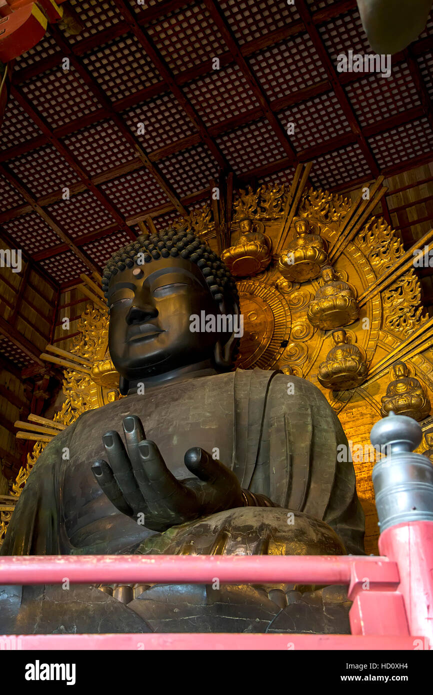 Detail from the Todaiji temple in Nara, Japan Stock Photo