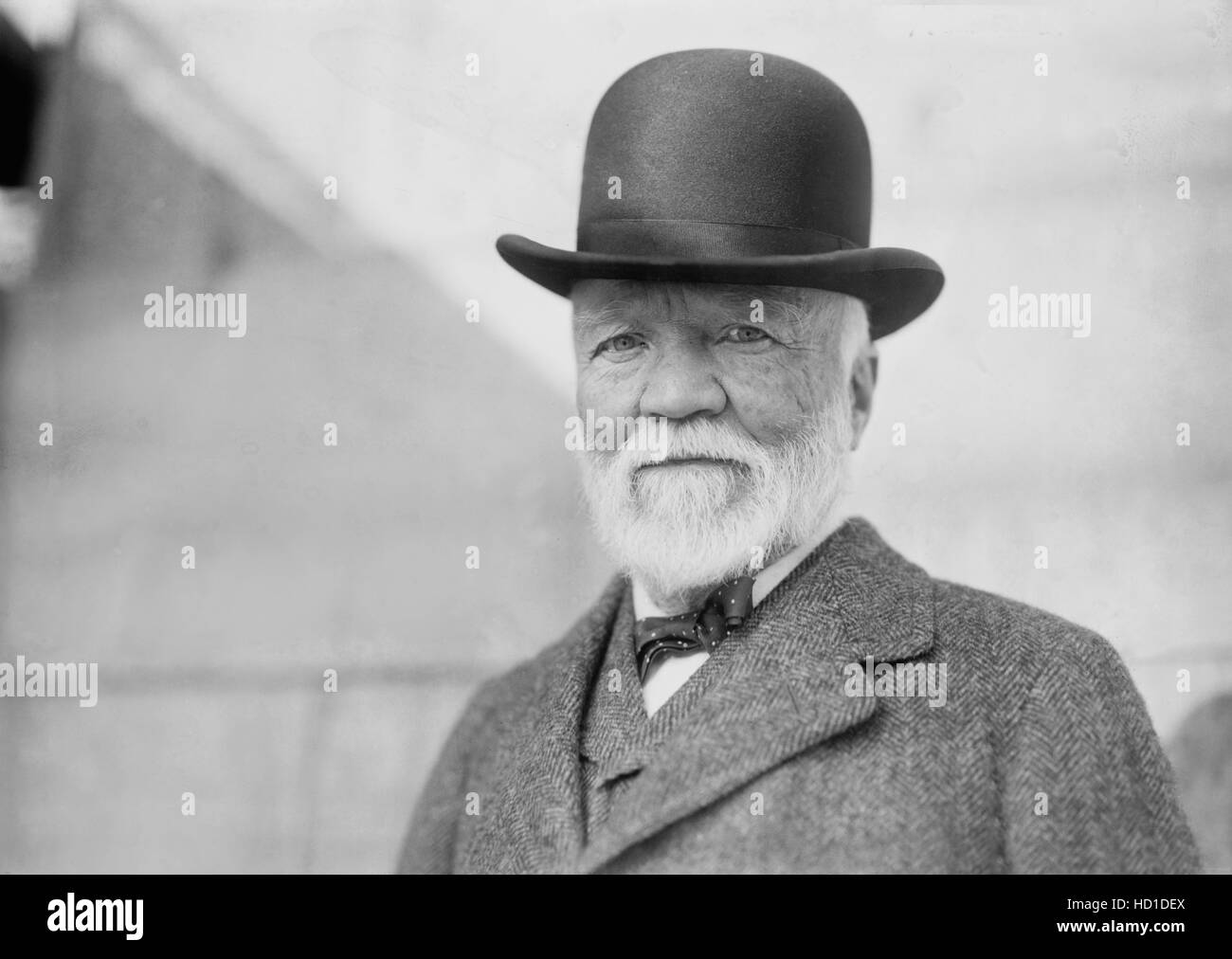Andrew Carnegie, Portrait upon Return from Trip to Europe, New York City, New York, USA, Bain News Service, October - Stock Image