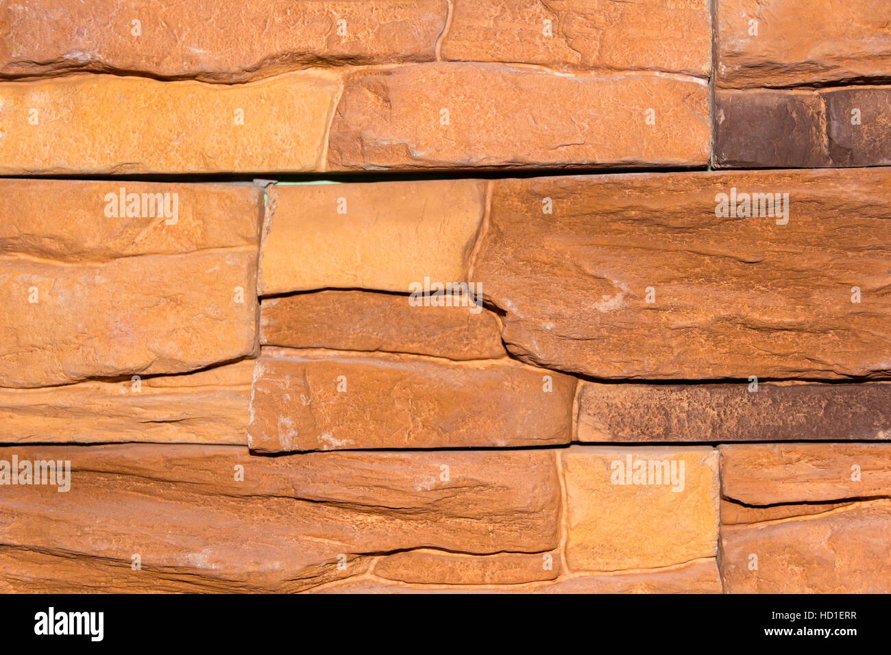 Photo stone wall of red masonry texture - Stock Image
