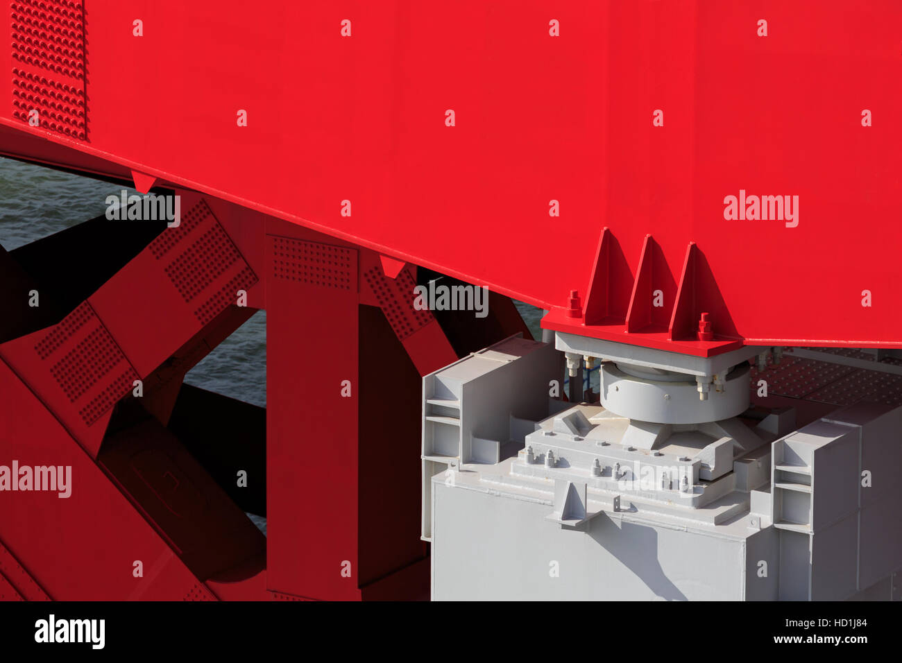 Ohashi Bridge Earthquake Retrofit, Kobe City, Honshu Island, Japan, Asia - Stock Image