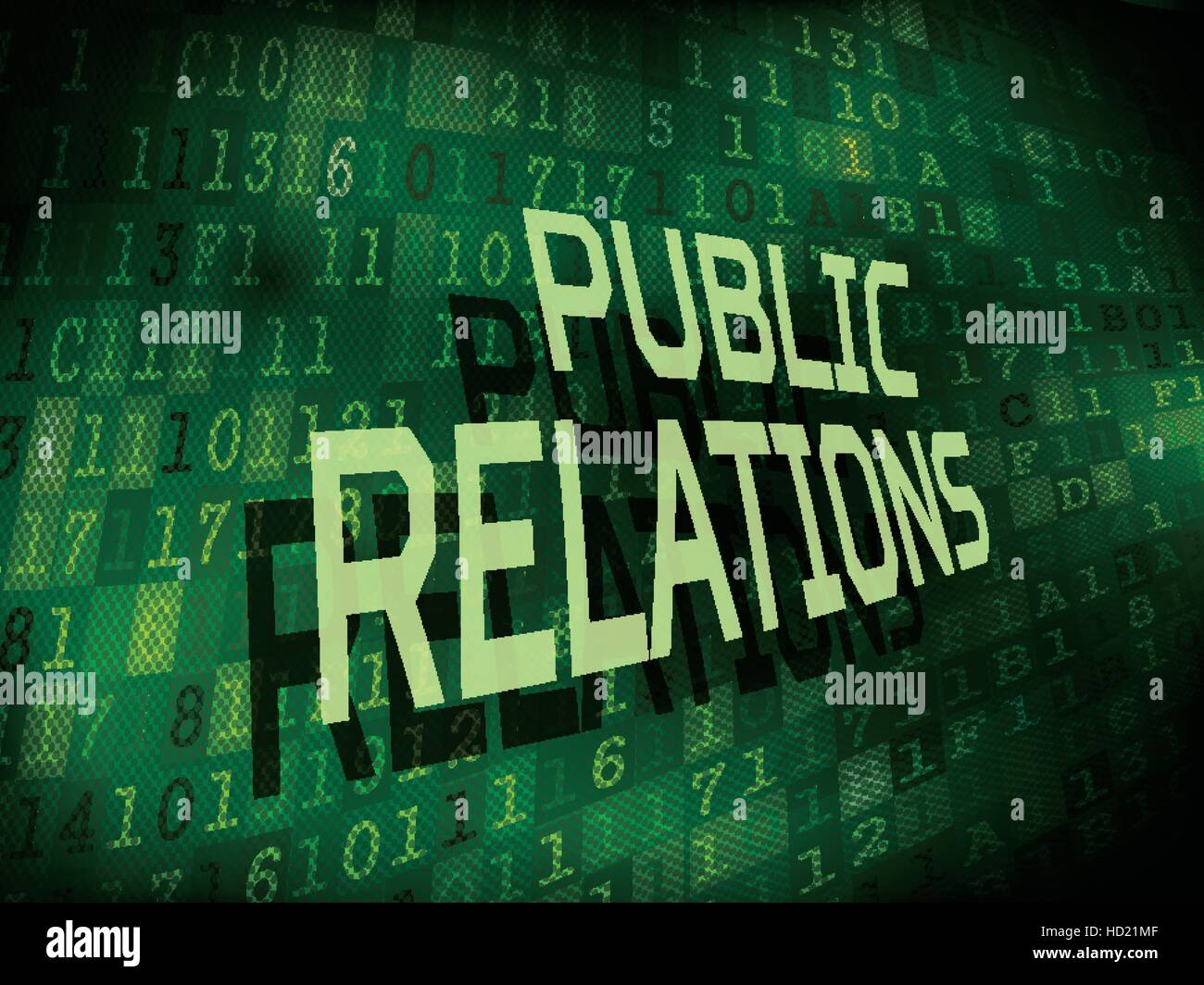 public relations words isolated on internet digital background - Stock Image