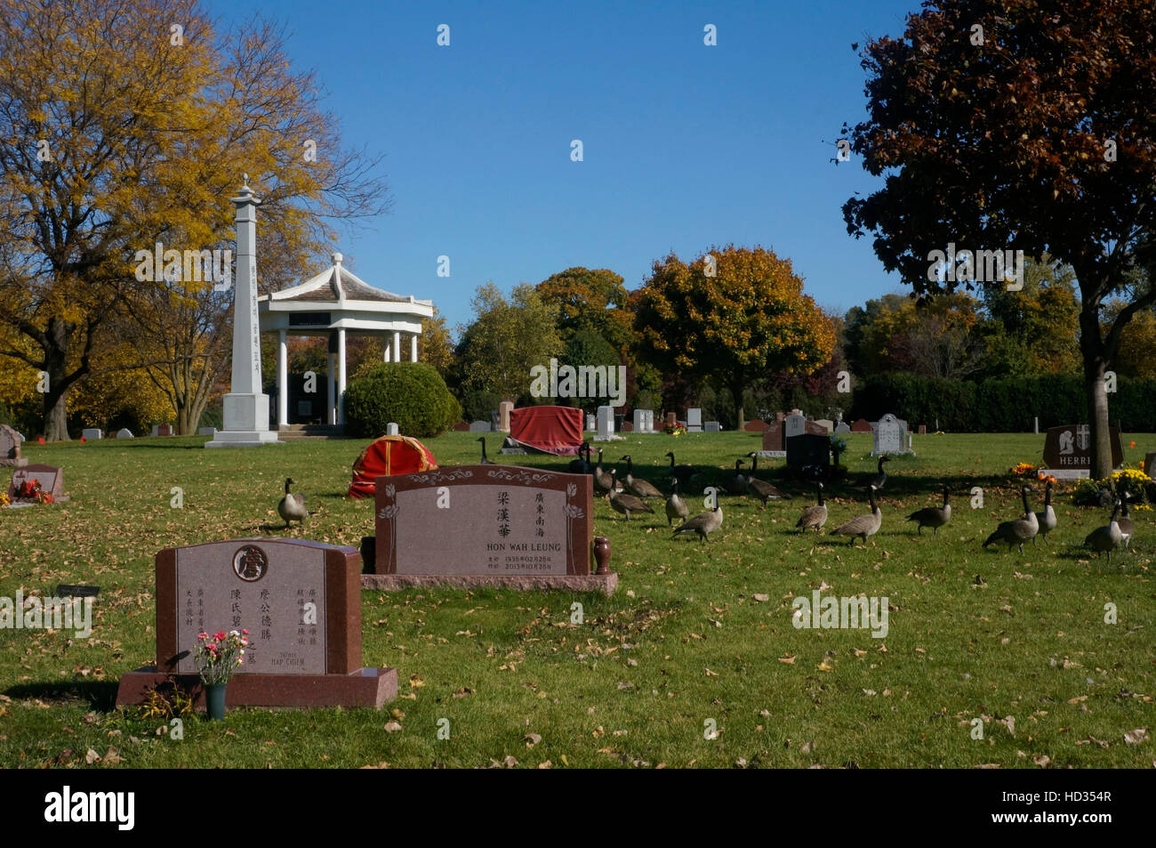 Rosehill Cemetery in Chicago, Illinois. - Stock Image