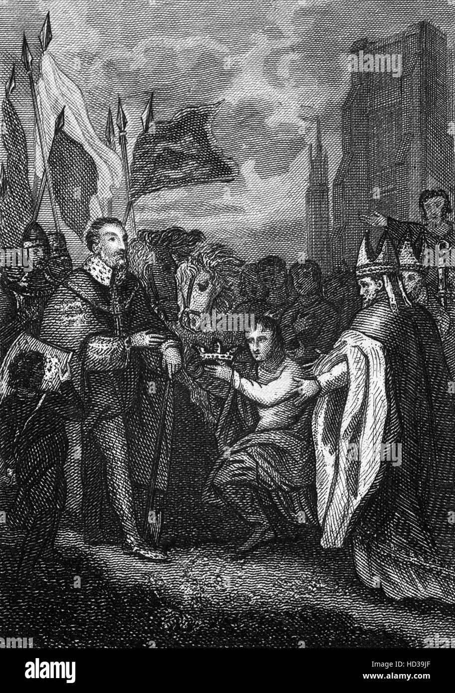 William the Conquer's coronation took place in Westminster Abbey on Christmas Day 1066. - Stock Image