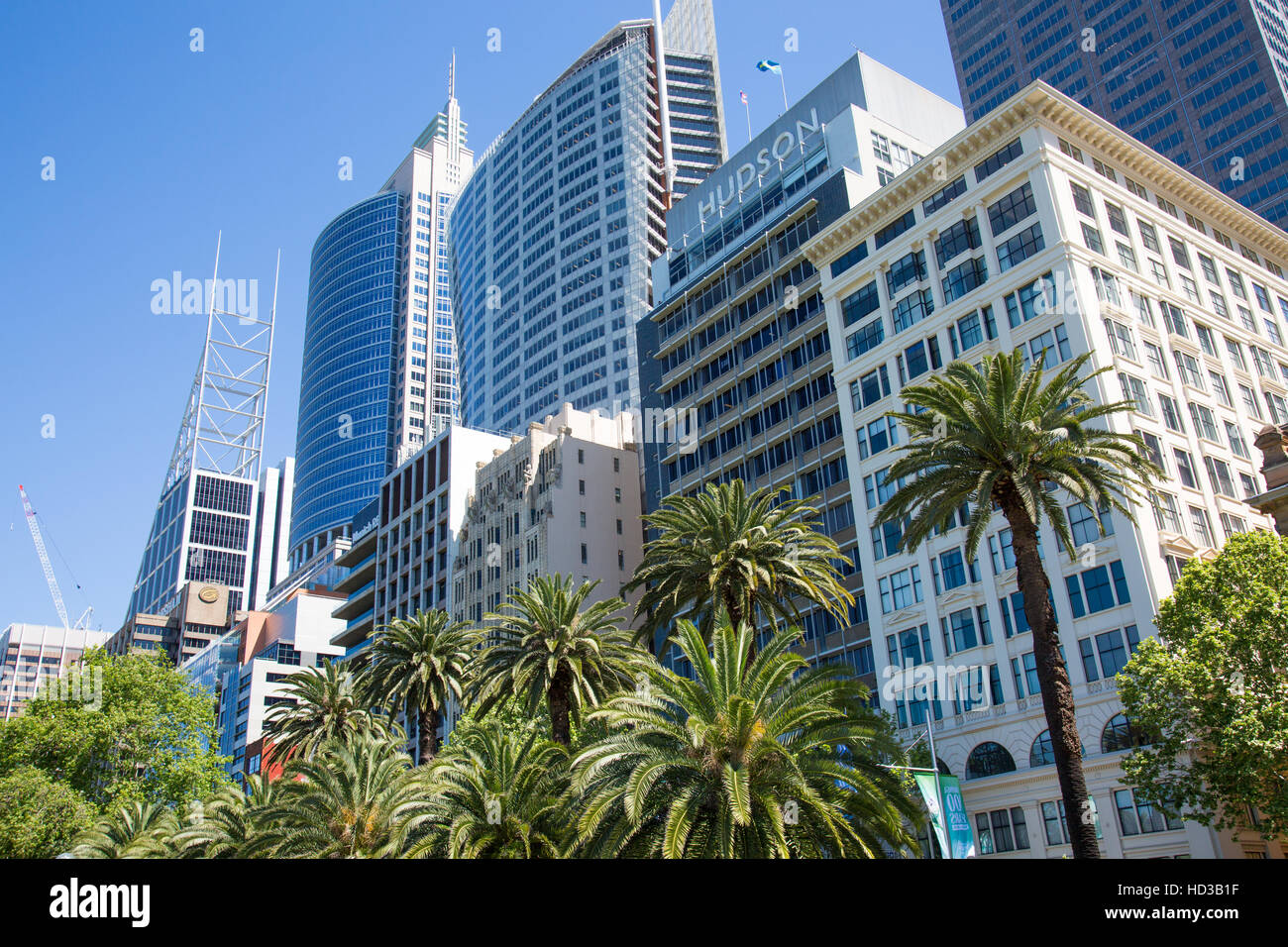 Office buildings including Aurora RBS place and Chifley tower on Macquarie Street in Sydney, New South Wales,Australia - Stock Image