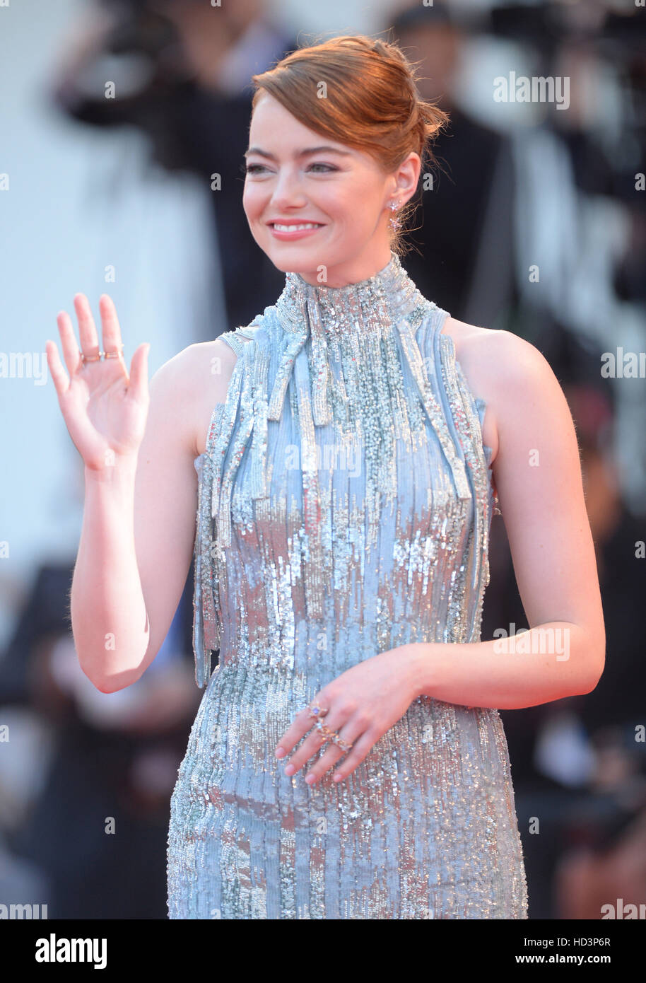 73rd Venice Film Festival - La La Land - Premiere  Featuring: Emma Stone Where: Venice, Italy When: 31 Aug 2016 - Stock Image