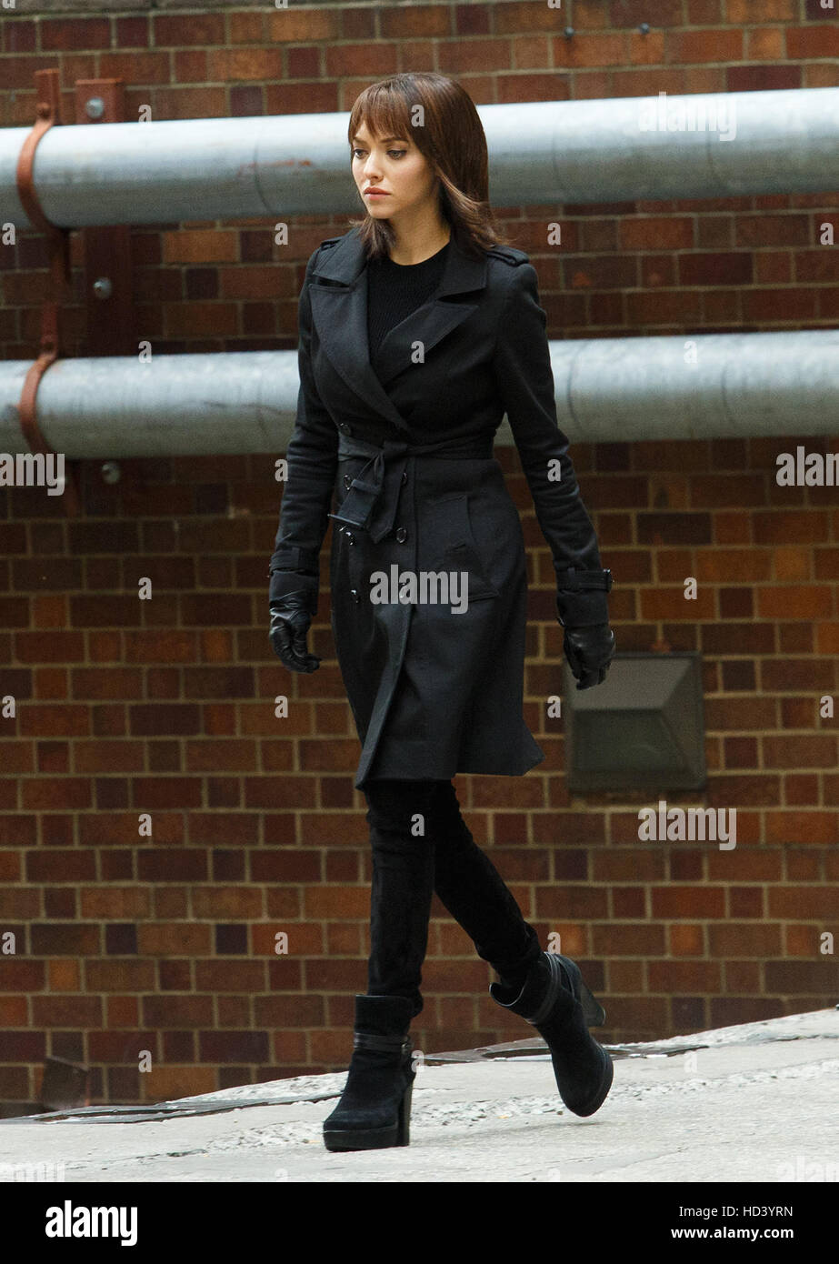 Filming of 'Anon' in New York, United States  Featuring: Amanda Seyfried Where: New York, United States - Stock Image
