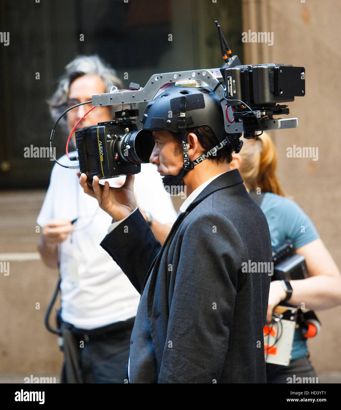 Filming of 'Anon' in New York, United States  Featuring: Clive Owen Where: New York, United States When: - Stock Image