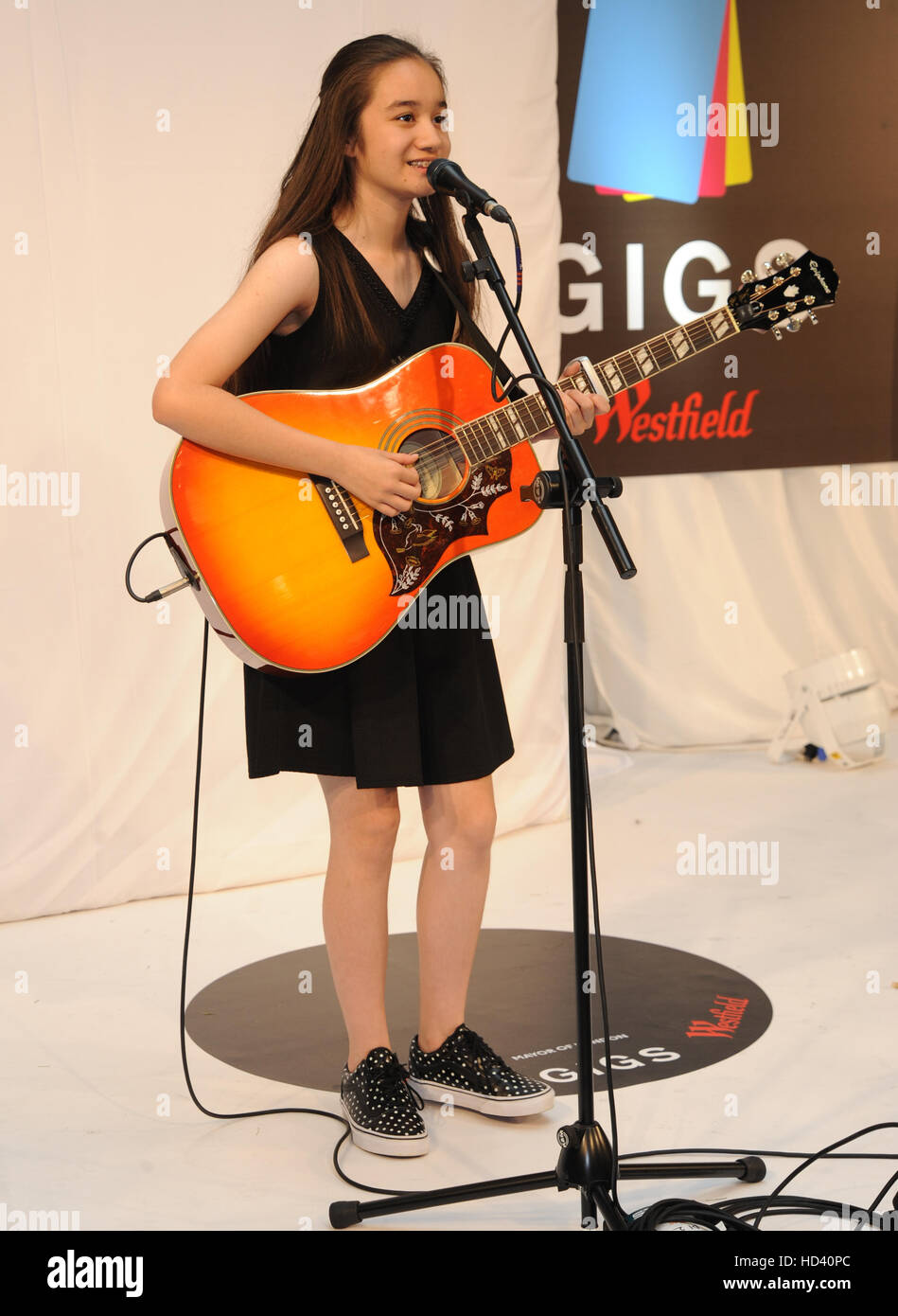 Westfield Stratford Gigs grand final  Featuring: Clarissa Mae Where: London, United Kingdom When: 04 Sep 2016 Stock Photo