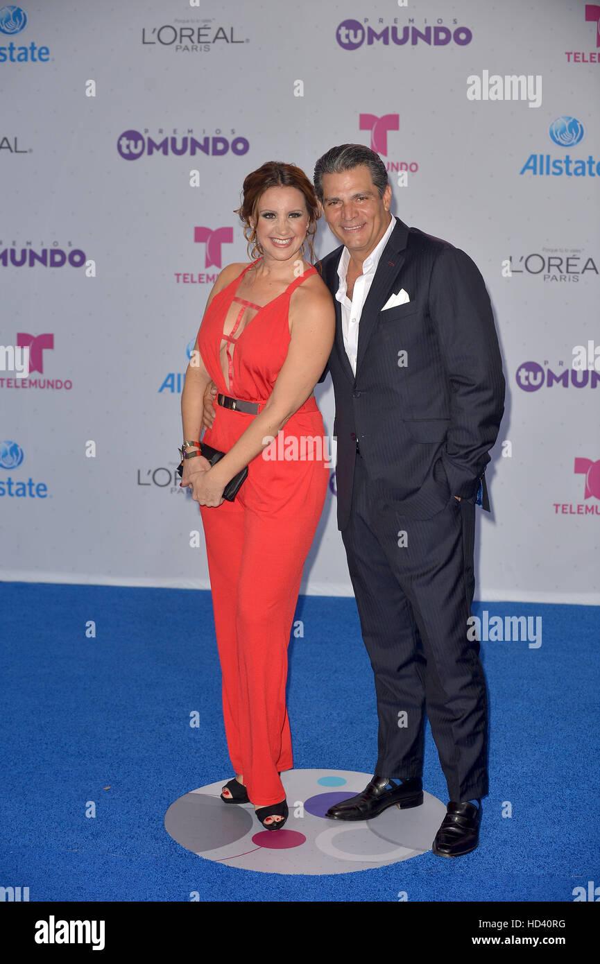 Telemundo's Premios Tu Mundo 'Your World' Awards - Arrivals  Featuring: Arancha Solis Where: Miami, Florida, United Stock Photo