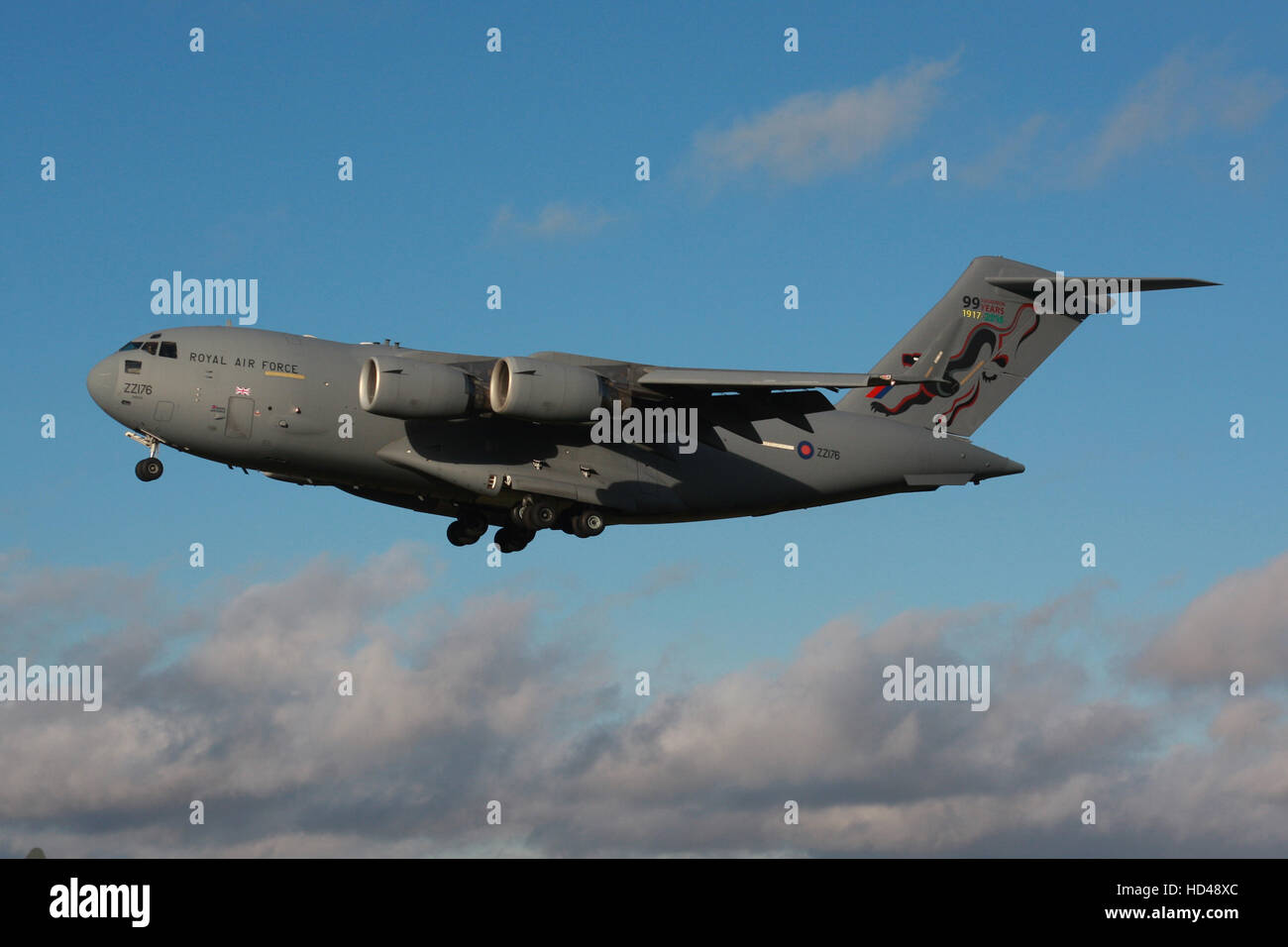 ROYAL AIR FORCE BOEING C17 - Stock Image