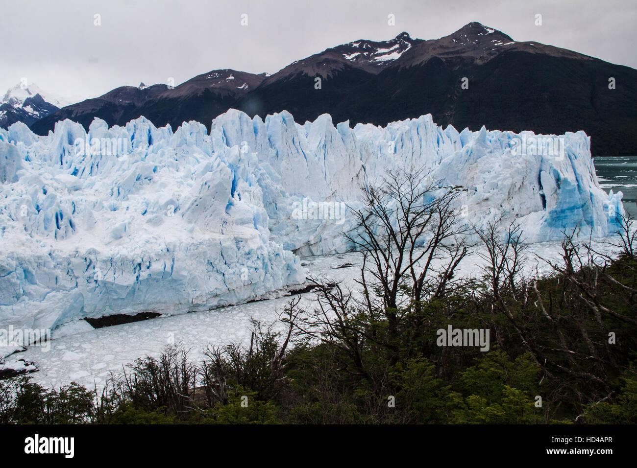 EL CALAFATE, ARG, 06.12.2016: Argentinian Perito Moreno Glacier located in the Los Glaciares National Park in southwest Stock Photo