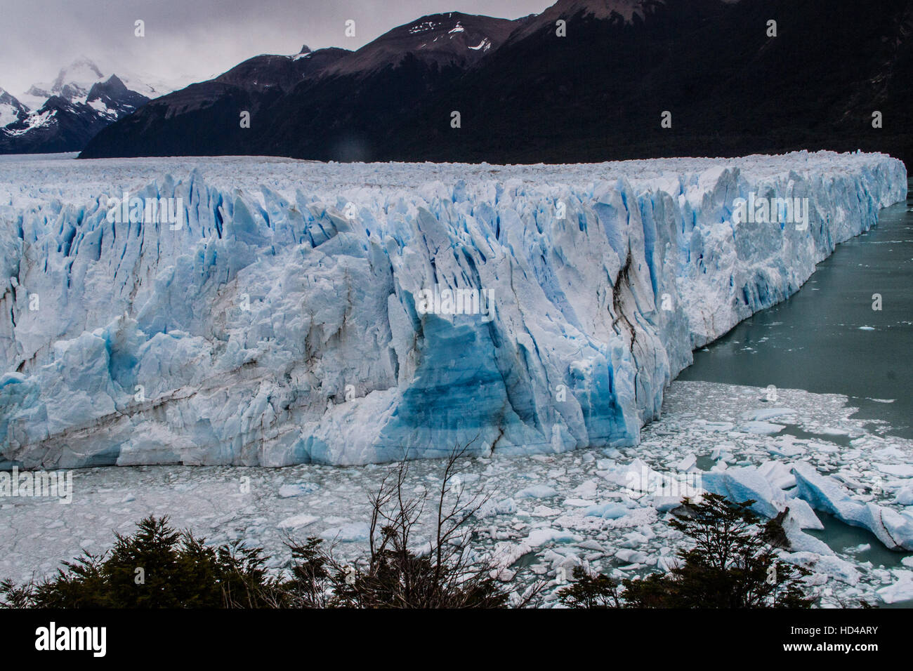 EL CALAFATE, ARG, 06.12.2016: Argentinian Perito Moreno Glacier located in the Los Glaciares National Park in southwest - Stock Image