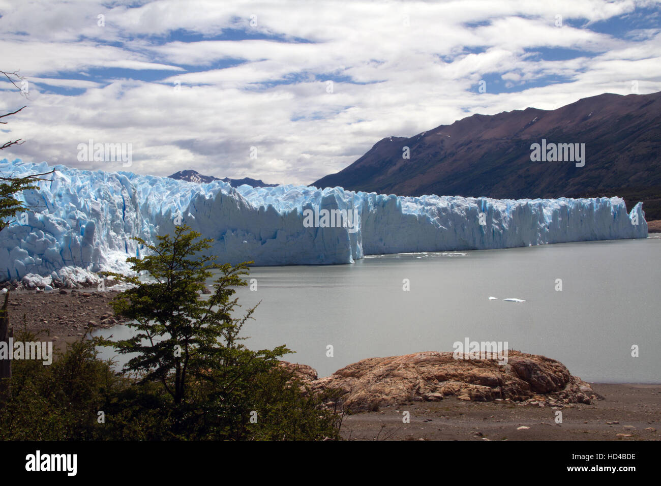 EL CALAFATE, ARG, 06.12.2016: Argentinian Perito Moreno Glacier located in the Los Glaciares National Park in southwest Stock Photo