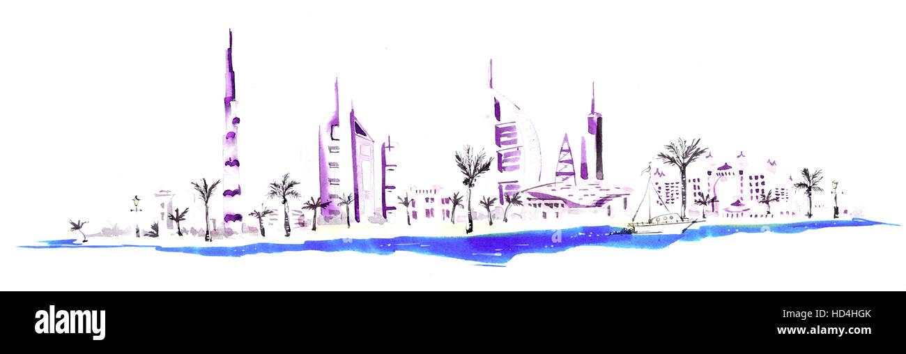 City skyline - Stock Image