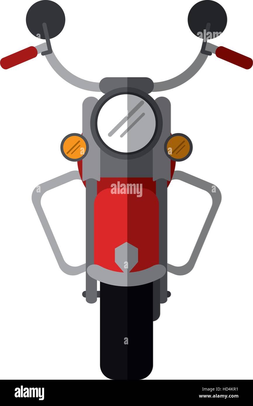 red motorcyle speed transport steel shadow - Stock Vector
