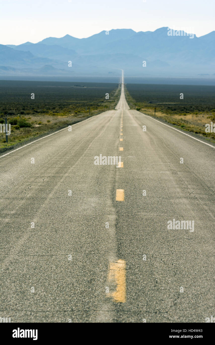 Nevada, Highway 50, The Loneliest Road in America - Stock Image