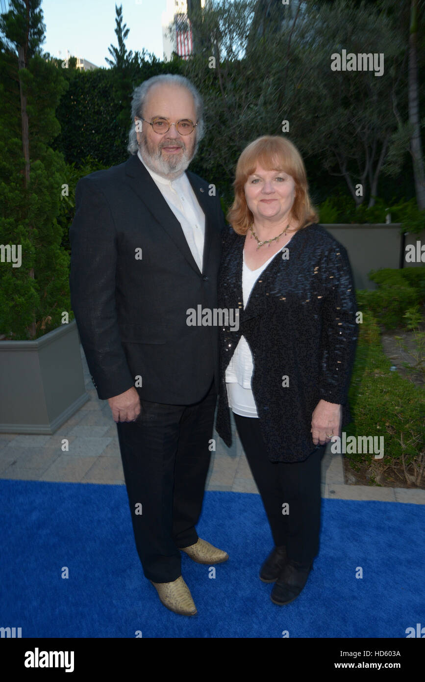 David Keith Heald and Lesley Nicol attending the Mercy For Animals' Hidden Heroes Gala 2016, at Vibiana in Los - Stock Image