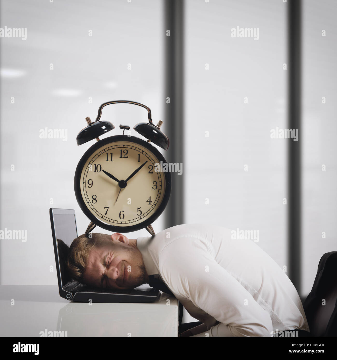 Oppressed by deadlines - Stock Image