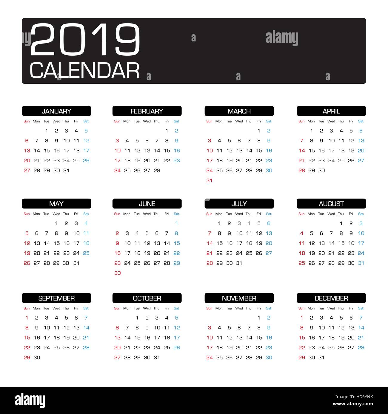 Free Comic Book Day 2019 List: July 2019 Calendar Stock Photos & July 2019 Calendar Stock