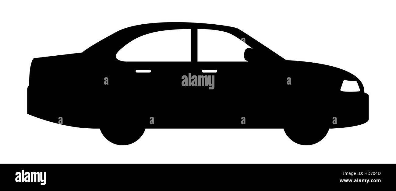 black car vehicle icon - Stock Vector