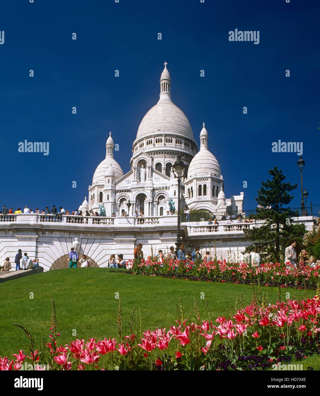 Sacre Coeur, Montmartre, Paris, France - Stock Image