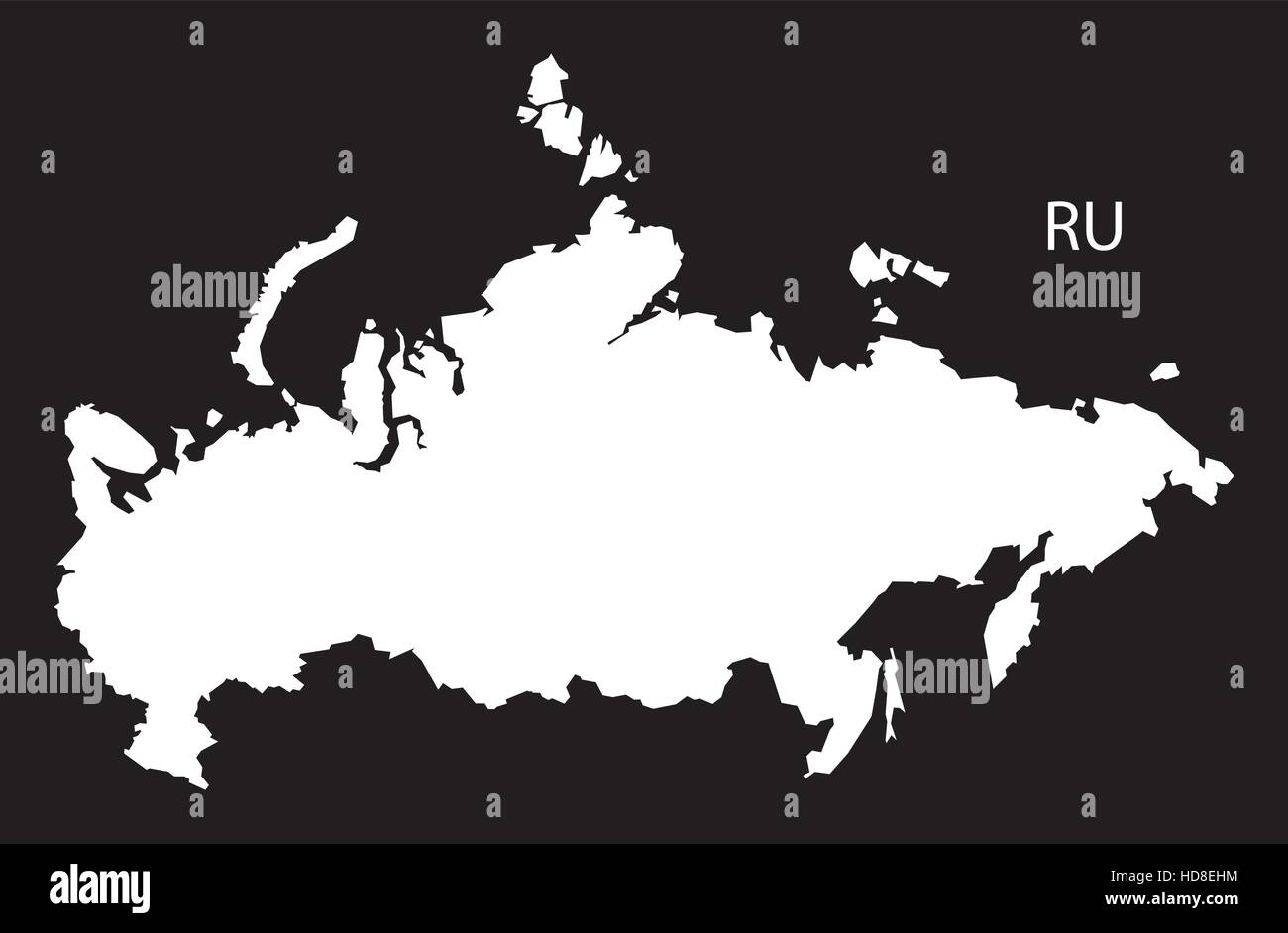 Russia map stock vector images alamy russia map black and white illustration stock vector gumiabroncs Choice Image