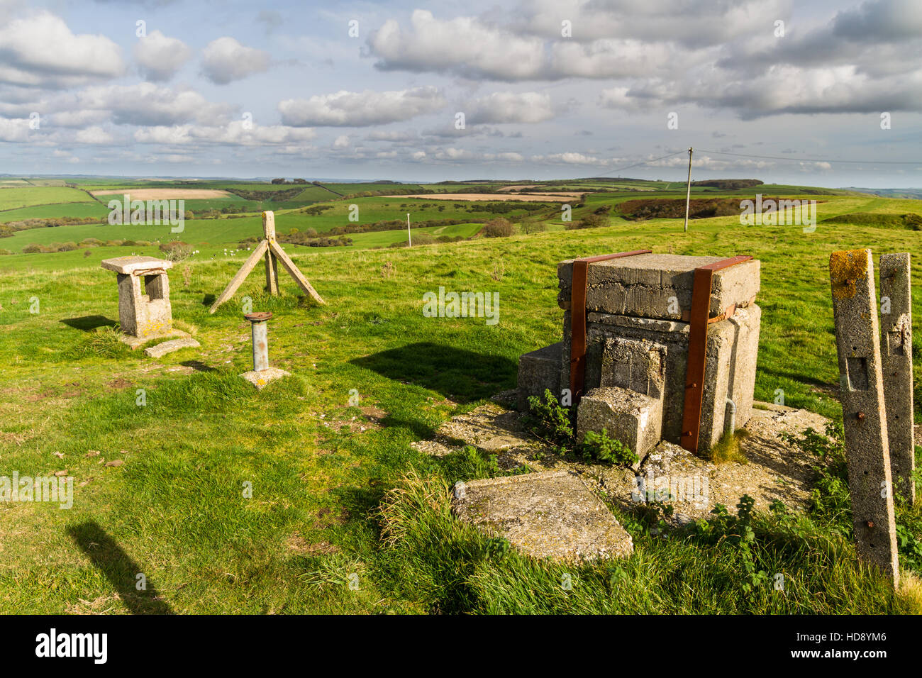 Royal Observer Corps post, Cold War underground bunker to monitor after nuclear attack. Abbotsbury, Dorset, England, - Stock Image