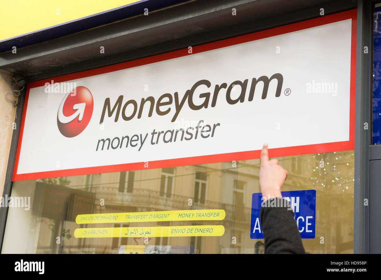 International Money Transfer Stock Photos Wiring To Haiti Moneygram Shop Image