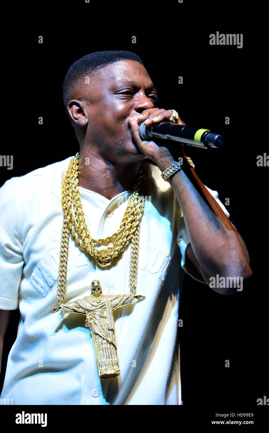 Kings of the Streets Tour with Lil' Boosie, Plies and Blac Youngsta at James L. Knight Center  Featuring: Boosie - Stock Image