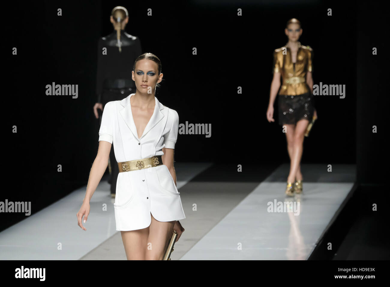 6685b420a9 Models on the catwalk at the Felipe Varela show during Mercedes-Benz  Fashion Week Madrid
