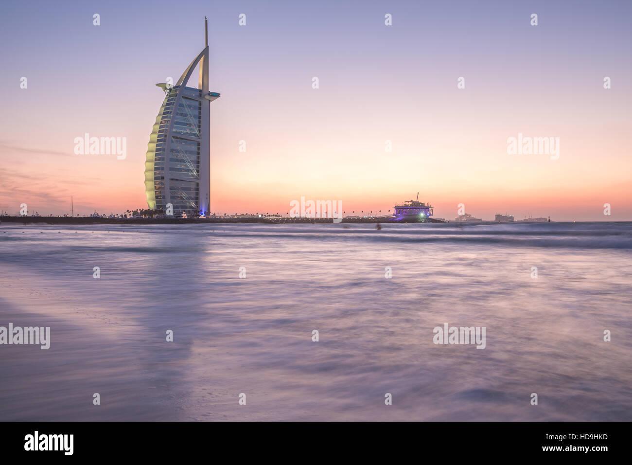 Burj al Arab, luxury, dubai, hotel, coast - Stock Image