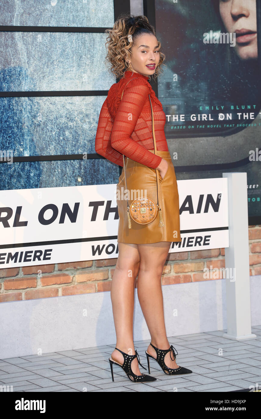 The Girl on the Train World premiere - Arrivals  Featuring: Ella Eyre Where: London, United Kingdom When: 20 Sep Stock Photo