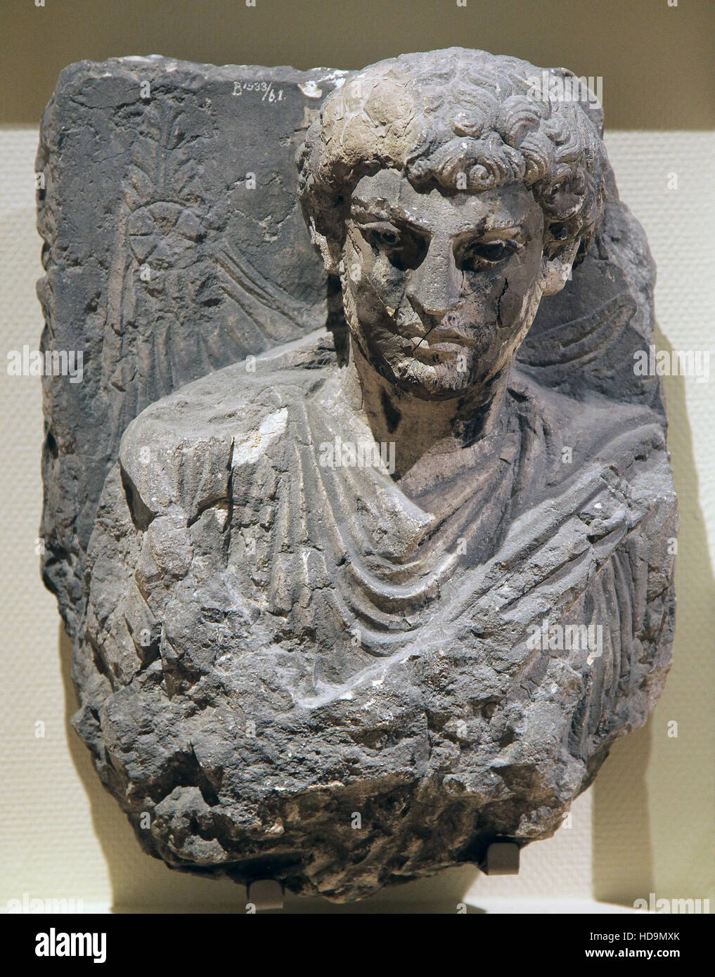 Portrait of a man Palmyra Syria 200 AD - Stock Image