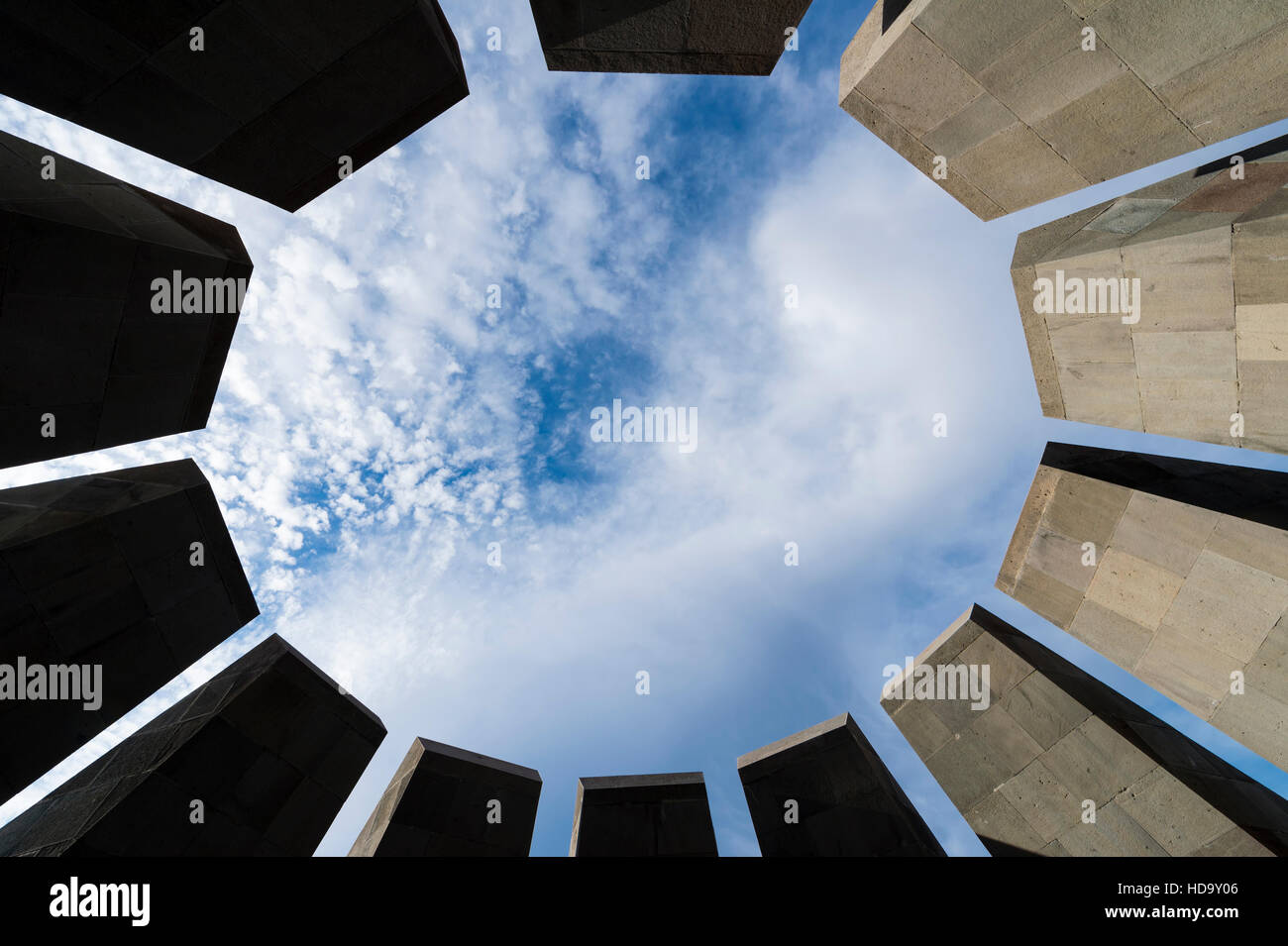 Armenian genocide memorial Tsitsernakaberd, Yerevan, Armenia, Caucasus, Middle East, Asia - Stock Image