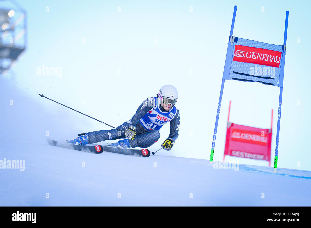 Sestriere, Italy. 10th December, 2016. Audi FIS Women Giant Slalom World Cup in Sestriere on the Kandahar slope, Stock Photo