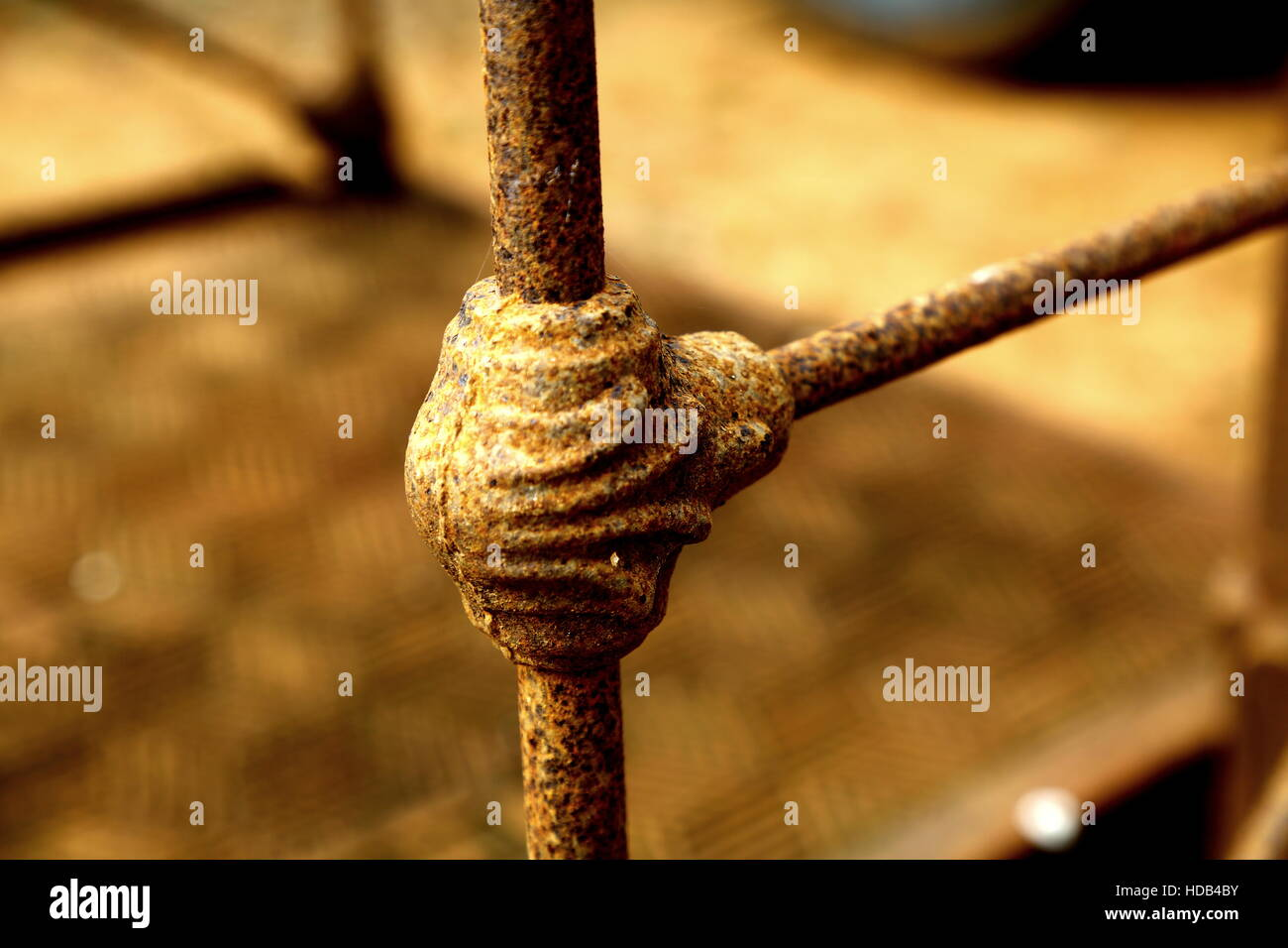 Farm scales with rustic charm Stock Photo