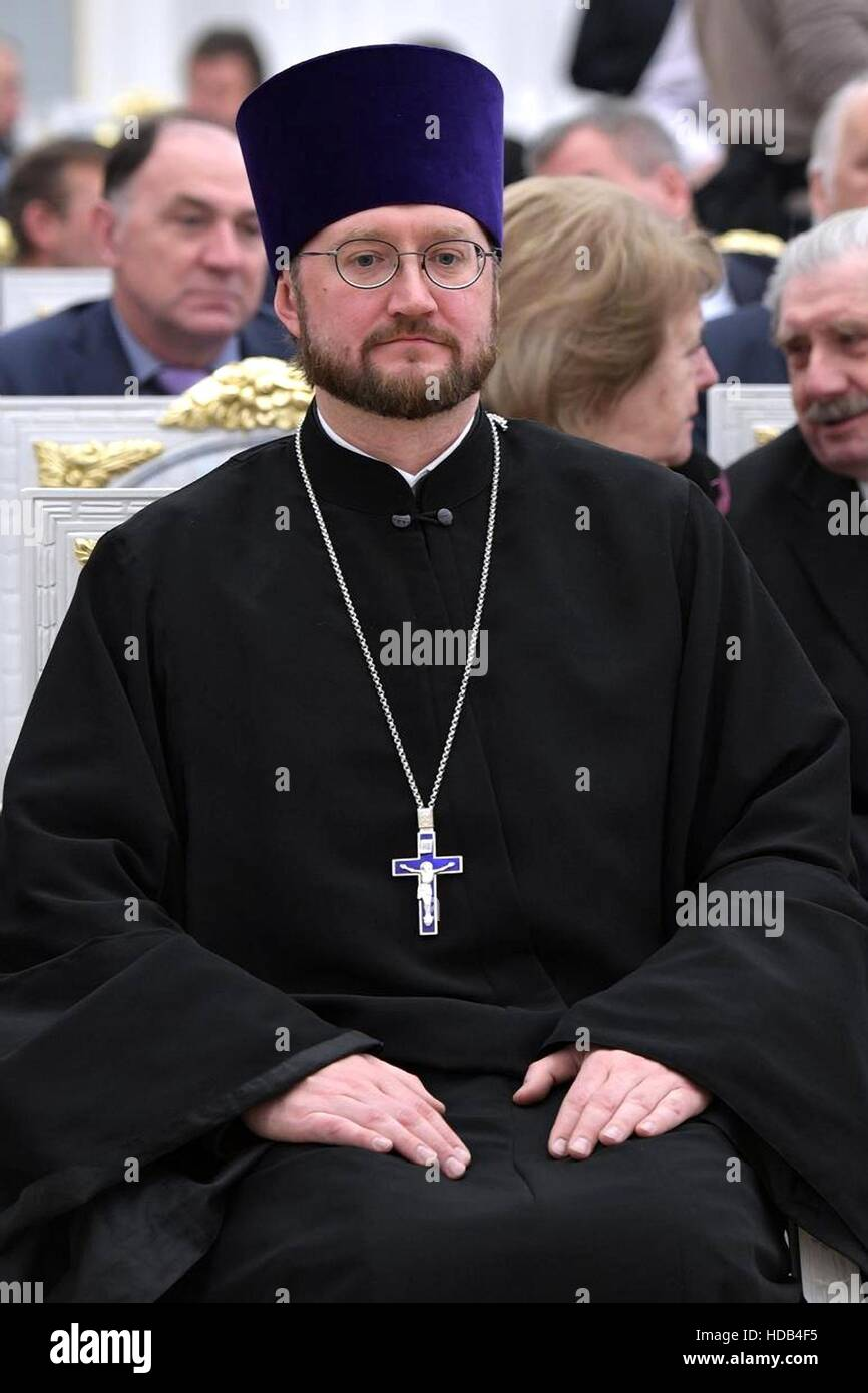 Russian Orthodox arch-priest Aleksandr Tkachenko, director of ANGO Childrens Hospice, during the National Outstanding - Stock Image