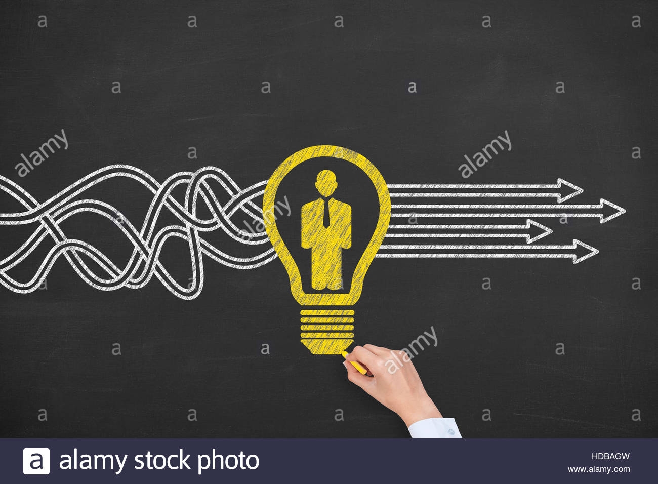 Human Resource and Idea With Person - Stock Image