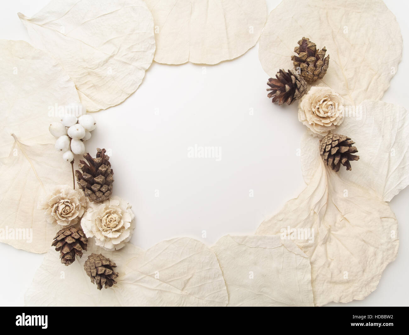 Creative Framework On White Flat Lay Top View Christmas Background Wallpaper
