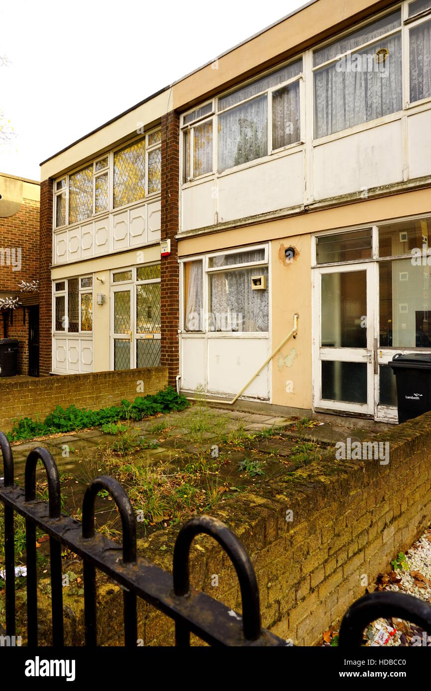 Council housing in need of repair - Stock Image