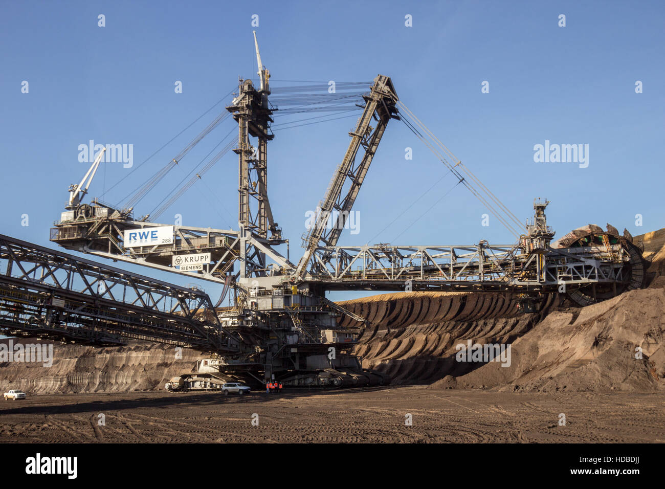 Bucket wheel excavator from RWE in the surface mine Garzweiler, Germany Stock Photo