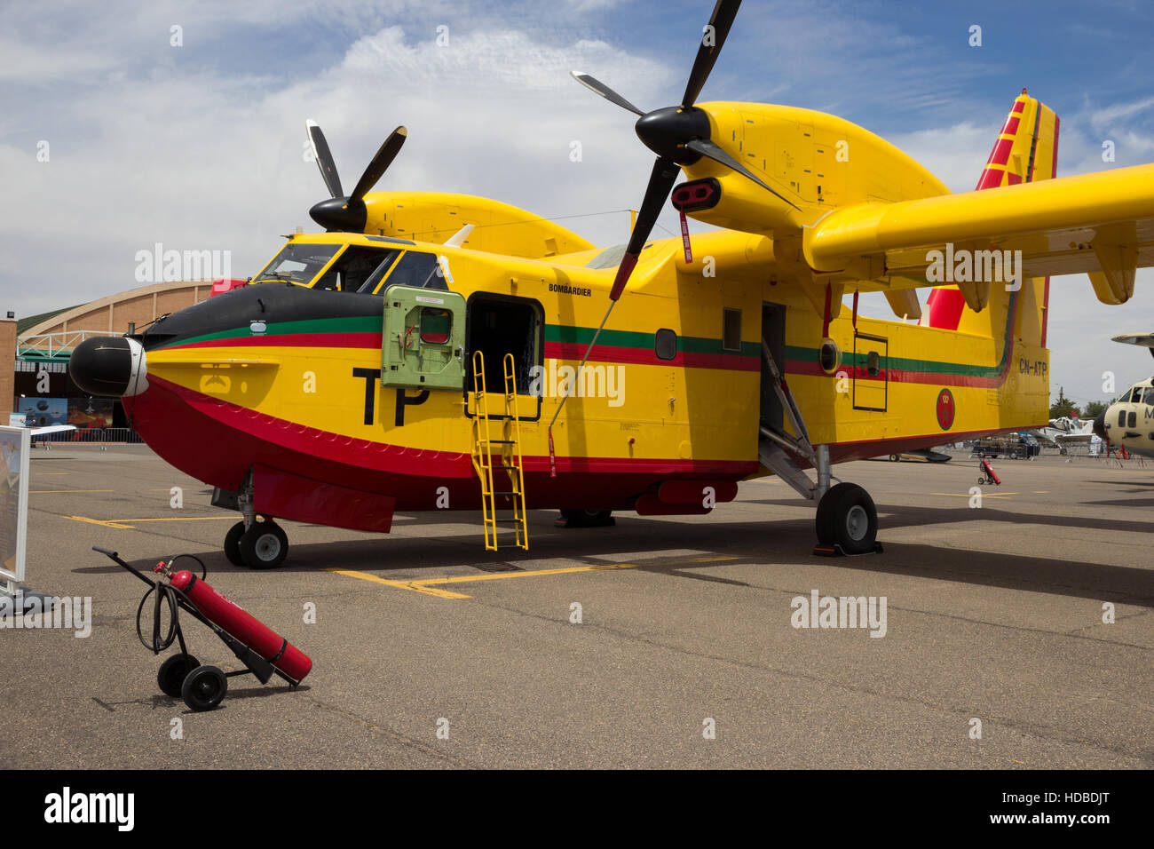 Royal Moroccan Air Force Canadair CL-415 water bomber - Stock Image