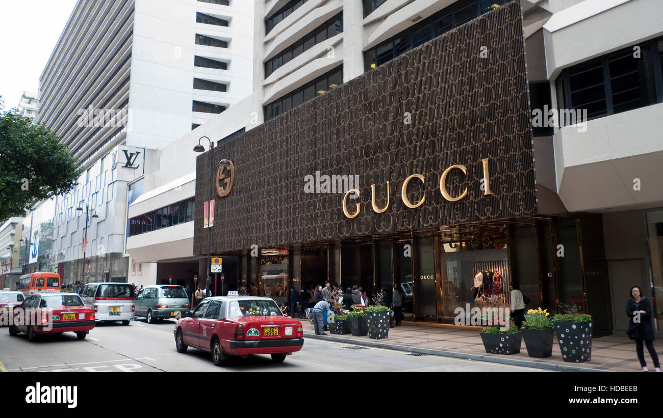 47f0fbb0fb Gucci store Hong Kong Stock Photo: 128715955 - Alamy
