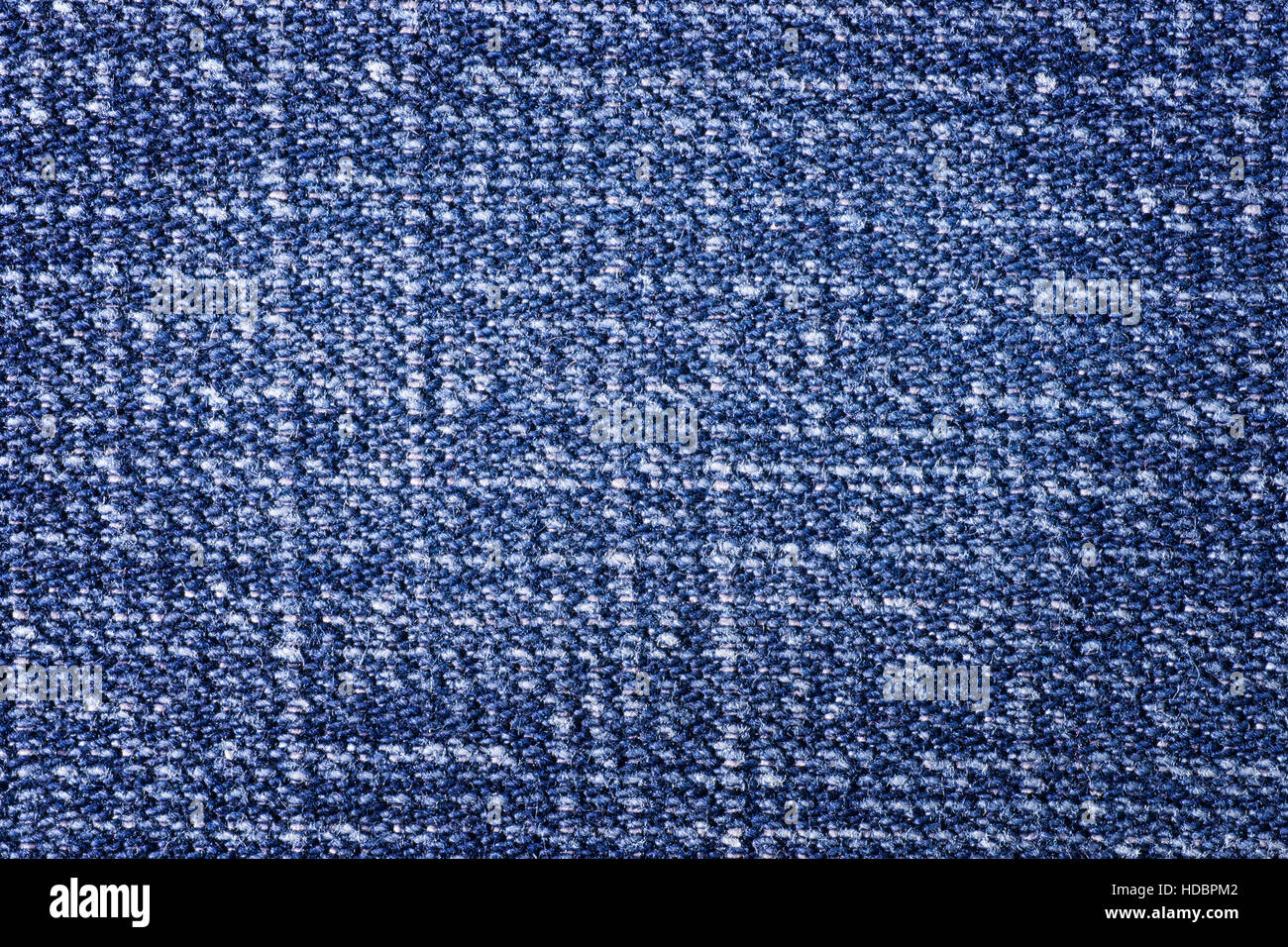 Rough blue denim cloth close up. Texture and background Stock Photo