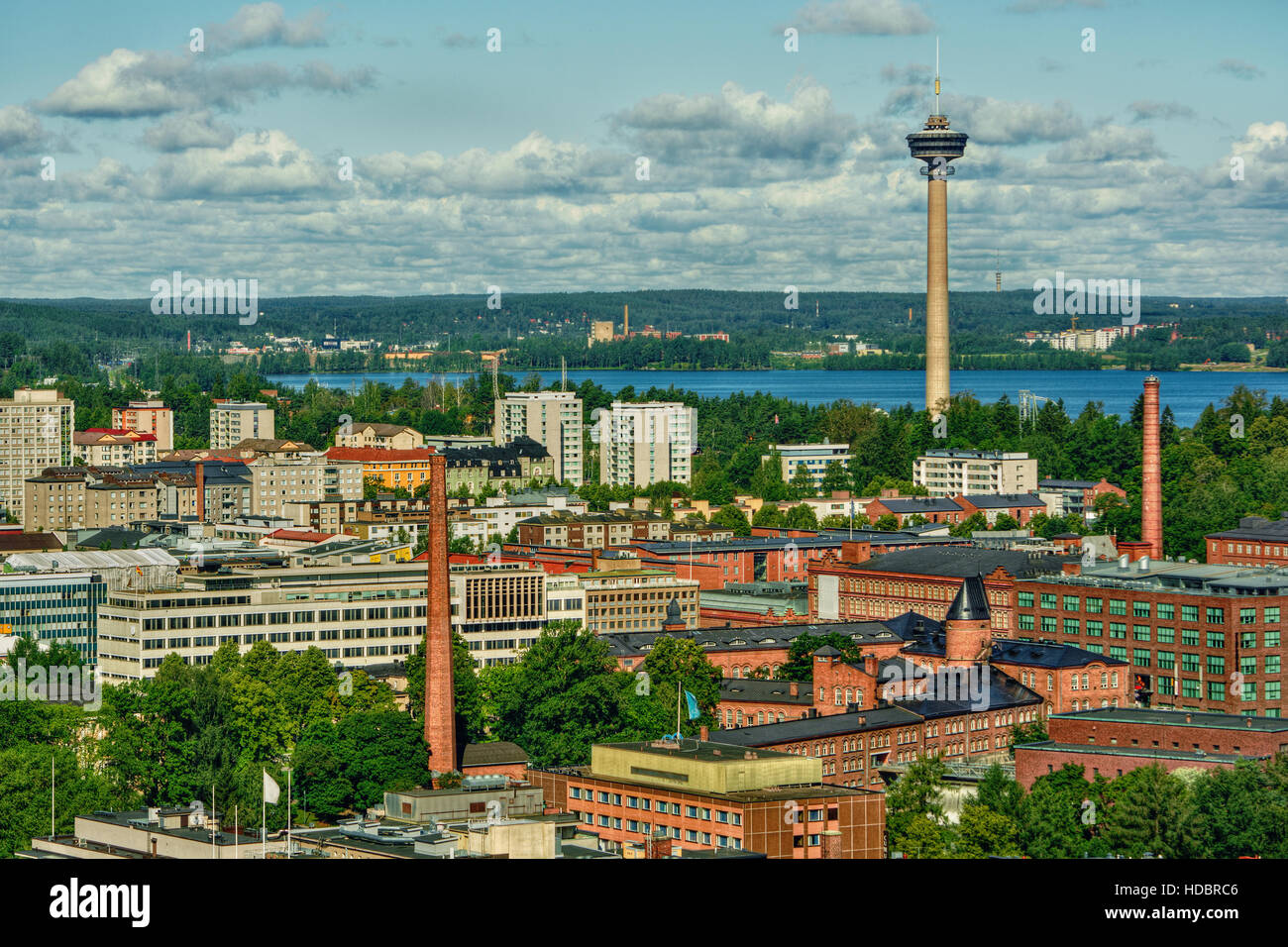 July 2016, urban capture of Tampere (Finland), HDR-technique - Stock Image