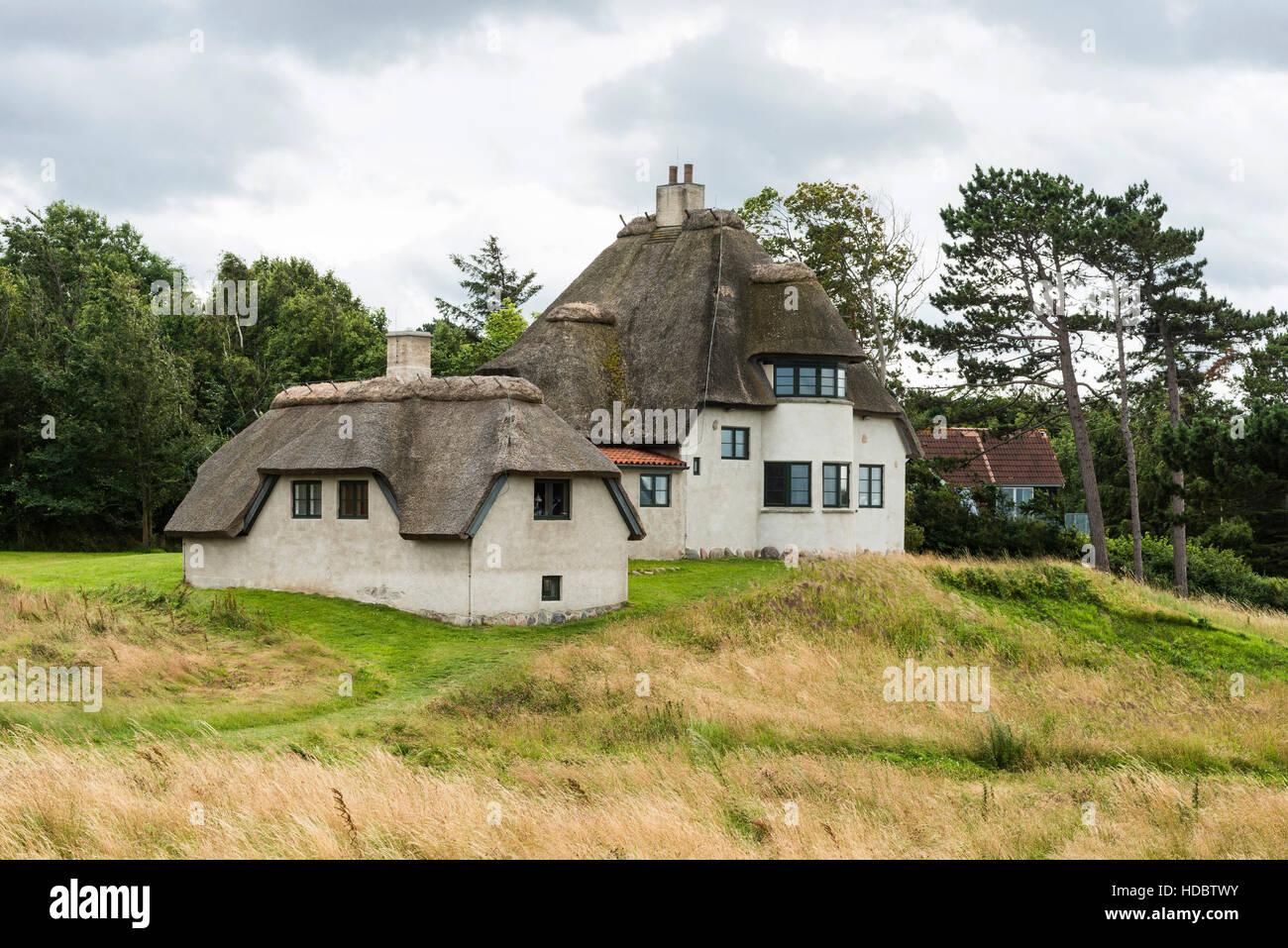 Polar explorer Knud Rasmussen's workhouse, memorial, Hundested, Capital Region of Denmark, Denmark - Stock Image