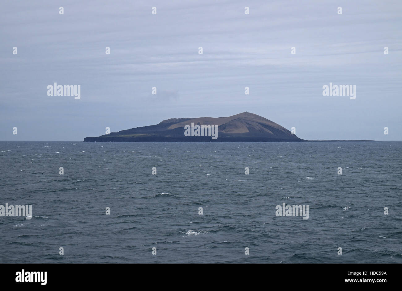 Relatively new island of Surtsey, formed by an eruption lasting from 1963 to 1967, Vestmannaeyjar Archipelago, southern - Stock Image